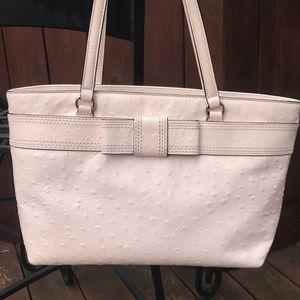 Kate Spade pink ostrich print bow purse